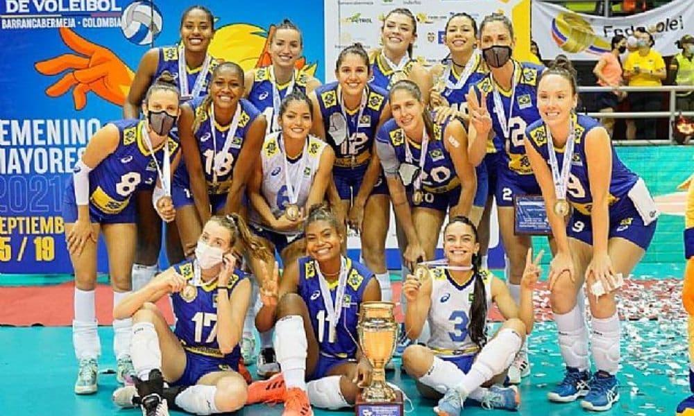 Brasil x Colômbia Campeonato Sul-Americano de vôlei feminino - Rosamaria