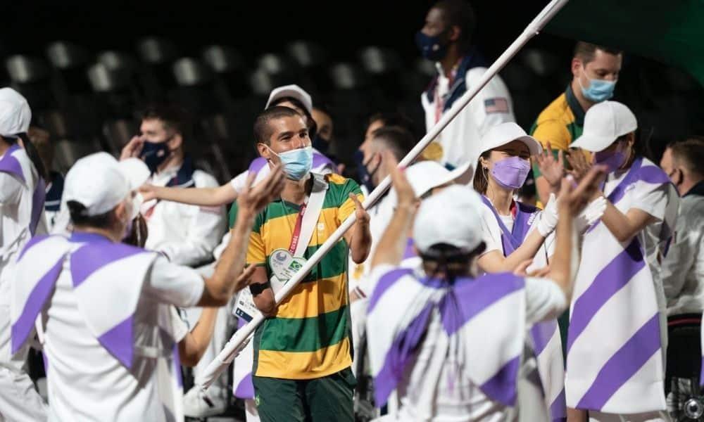Daniel Dias cerimônia de encerramento Jogos Paralímpicos Tóquio-2020