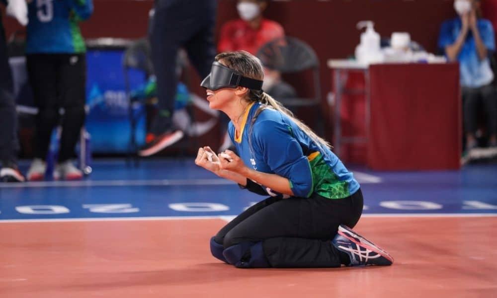 Ana Carolina goalball feminino jogos paralímpicos de tóquio Brasil EUA