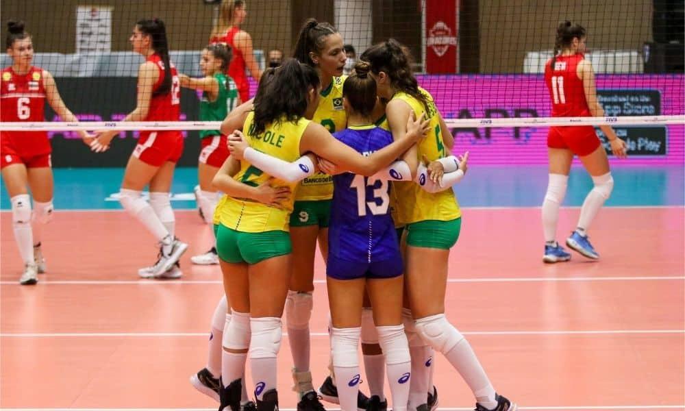 Brasil x Bulgária - Mundial Sub-18 feminino de vôlei feminino Tailândia