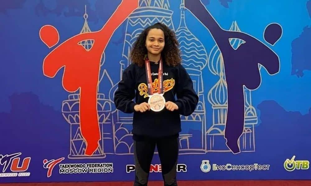 Danielly Vitória Neris aberto da Rússia de taekwondo