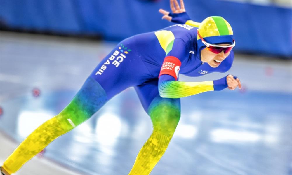 Larissa Paes garante vaga na Copa do Mundo de patinação de velocidade