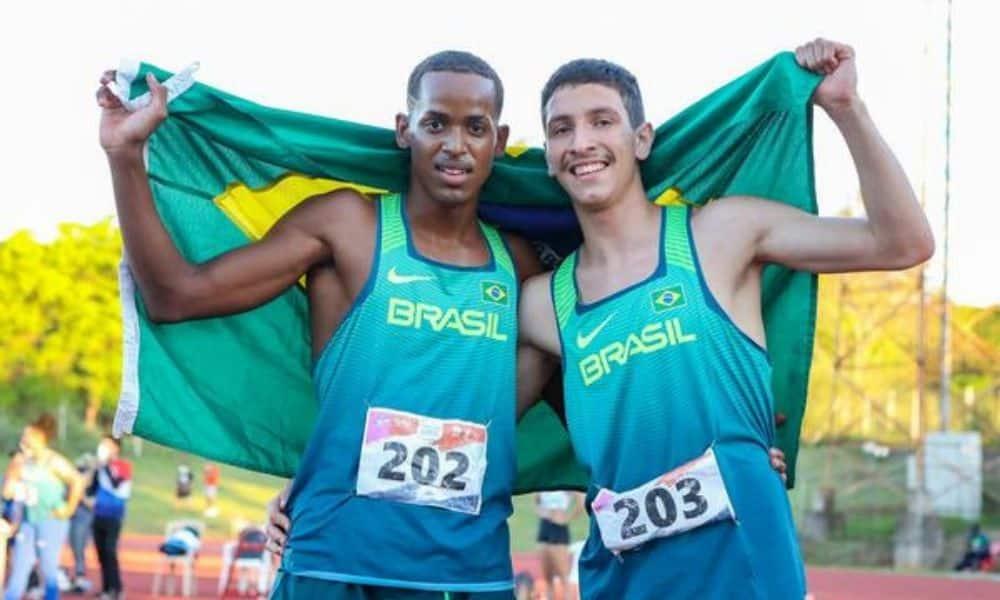 Vinícius Galeno e Gabriel Tasca fazem dobradinha nos 400 m (Foto: Wagner Carmo/CBAt)Sul-Americano Sub-18 de atletismo
