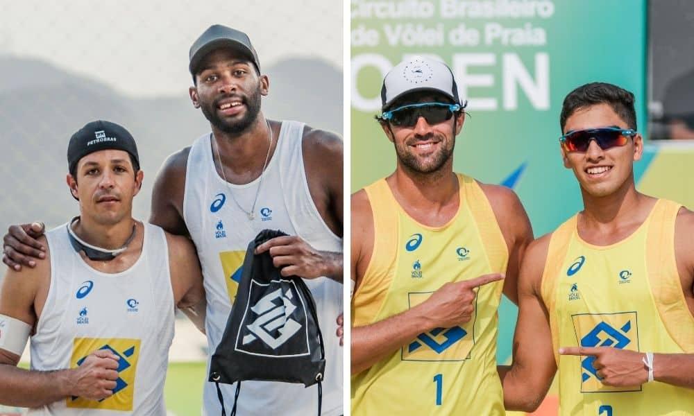 Vitor Felipe:Renato e Evandro:Álvaro Filho Circuito Brasileiro de vôlei de praia