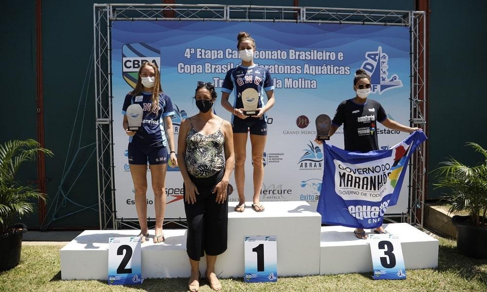 Viviane Jungblut e Bruce Hanson são campeões no Campeonato Brasileiro de maratona aquáticas