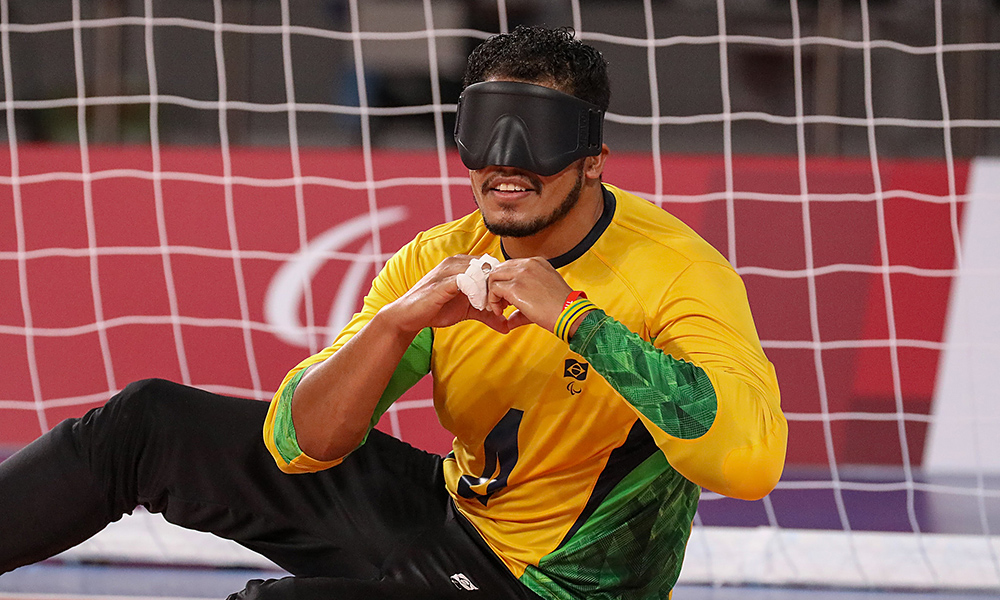 Leomon Moreno goalball masculino ouro Jogos Paralímpicos