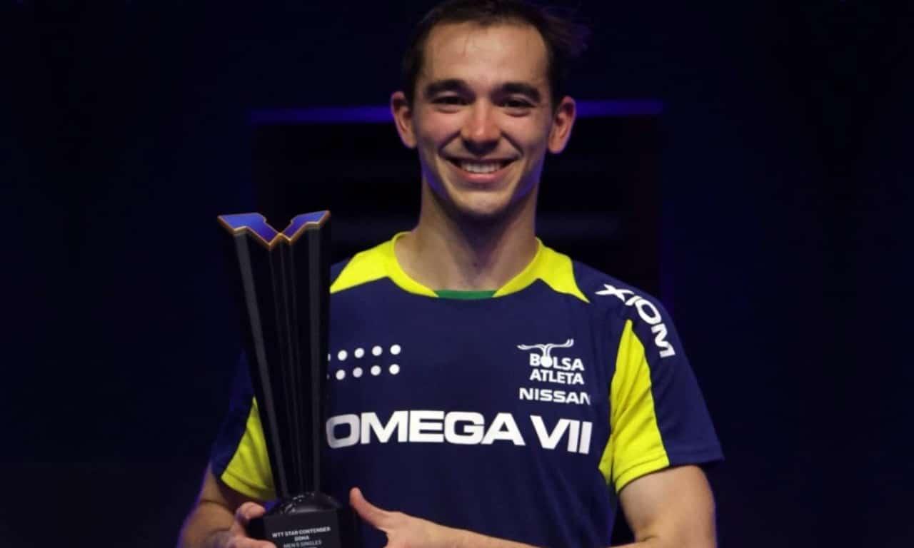 Hugo Calderano Star Contender Doha campeão medalha de ouro troféu