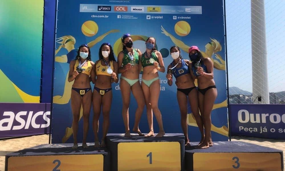 Nina/Carol e Mateus/Gabriel vencem a primeira etapa do Brasileiro Sub-21