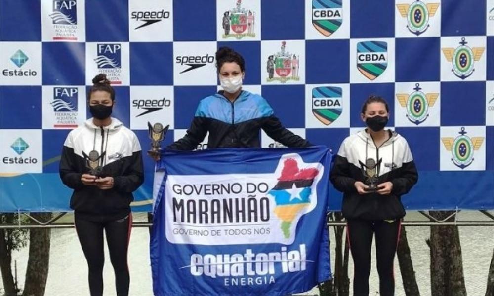 Carol Hertel e Henrique Figueirinha vencem os 10 km do Campeonato Brasileiro de Maratonas Aquáticas