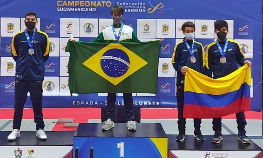Lorenzo mion campeonato sul-americano juvenil esgrima