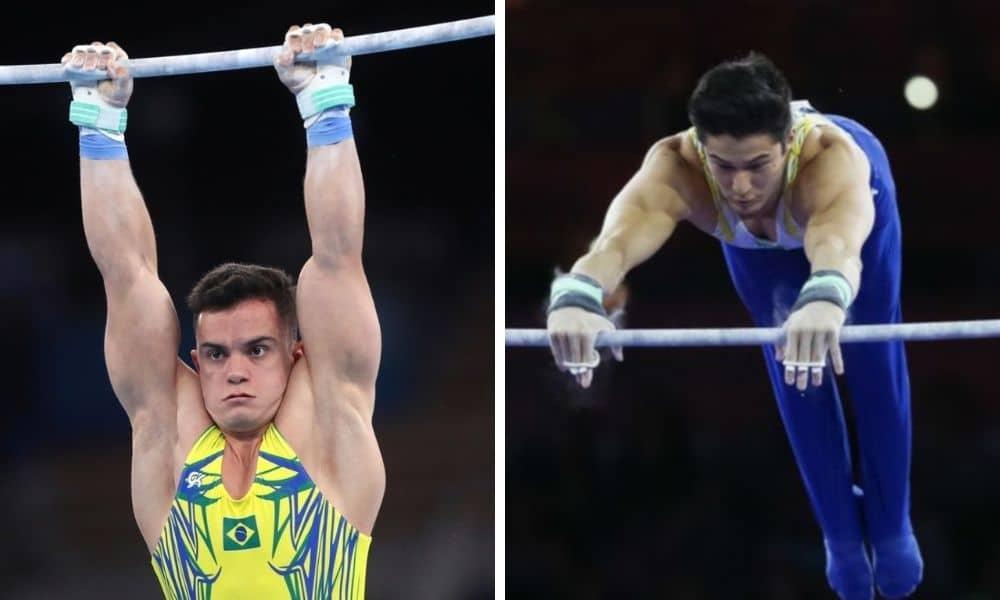 Caio Souza e Arthur Nory vão bem nas classificatórias do Mundial de ginástica artística