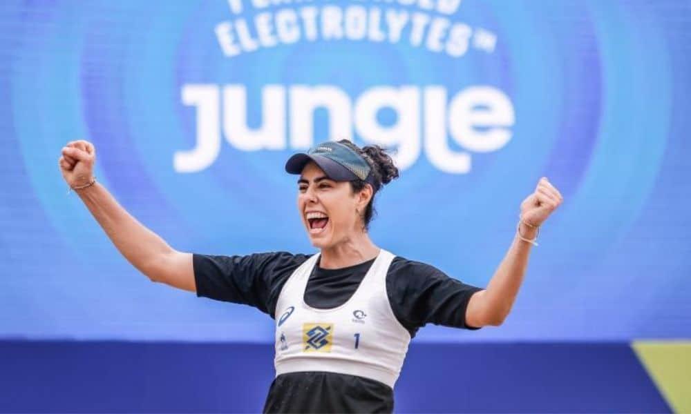 Teresa, que joga ao lado de Juliana Simões, está entre as classificadas (Créditos: William Lucas/Inovafoto/CBV)