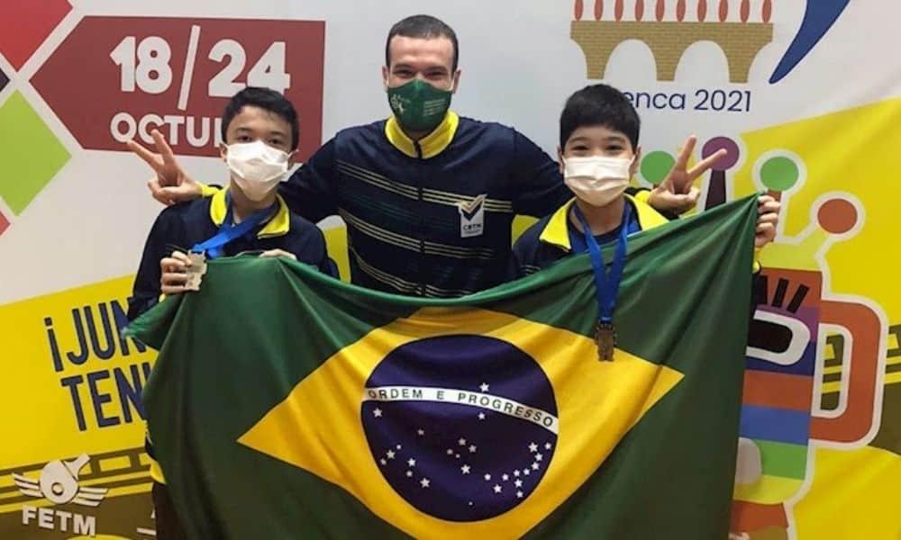 Hamilton Yamane e Davi Fujii Pan-Americano de Tênis de mesa Sub-11 e Sub-13