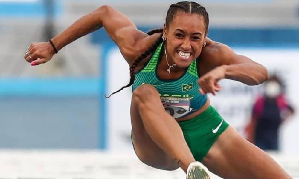 Ketiley, campeã dos 100 m com barreiras (Wagner CarmoCBAt)