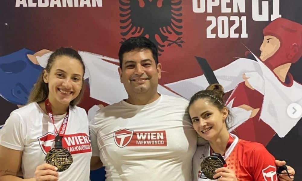 Milena Titonelli e Valéria Santos são campeãs na Albânia; Raiany Pereira leva prata
