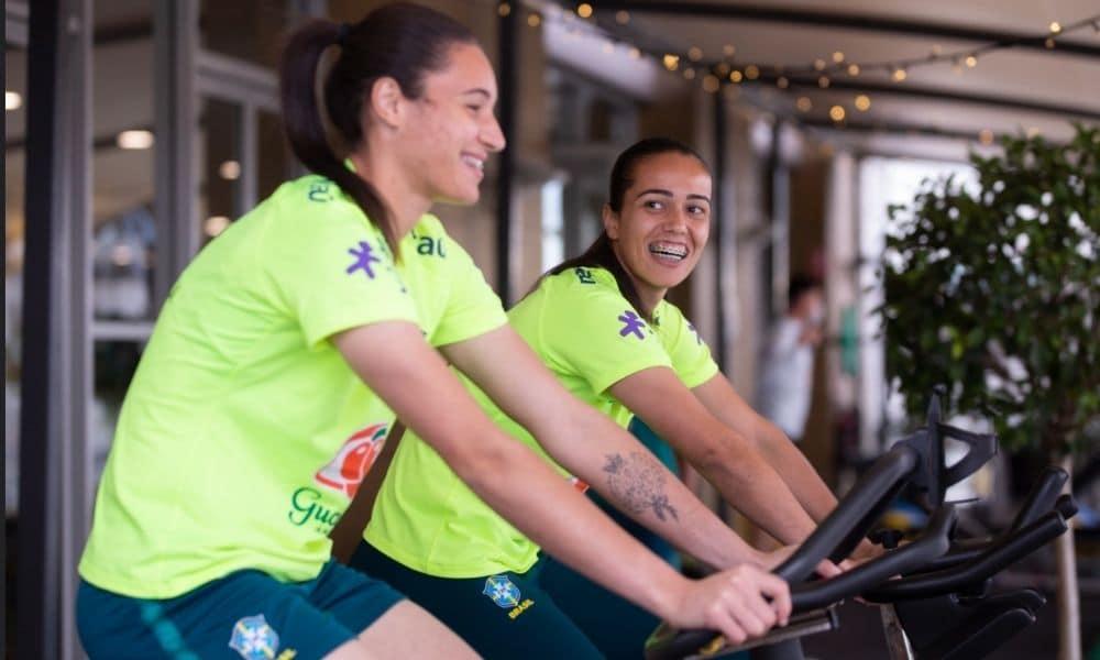 Seleção Feminina Jogadoras fazem treino regenerativo em Sidney