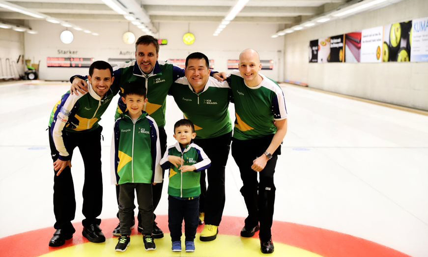 Homens da Seleção Brasileira de Curling fizeram parte da preparação na Suíça pré-olímpico pequim-2022