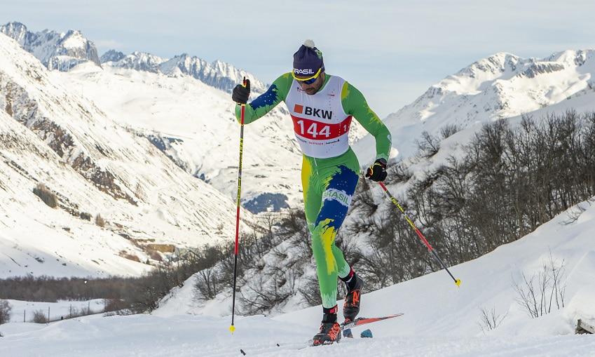 Steve Hiestand é um dos principais atletas de esqui cross-country do Brasil