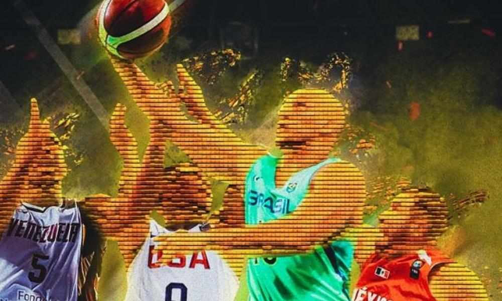 AmeriCup masculina 2022 Brasil basquete masculino sedes cartaz
