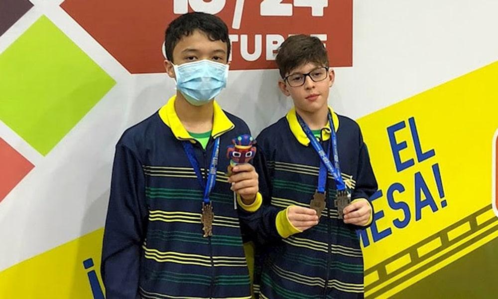 Davi Fujii Frederico Martins Campeonato Pan-Americano Sub-11 e Sub-13 tênis de mesa