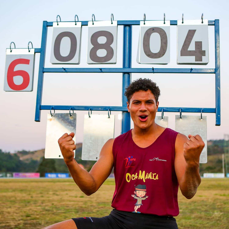 Gabriel Boza salto em altura atletismo Sul-Americano Sub-23