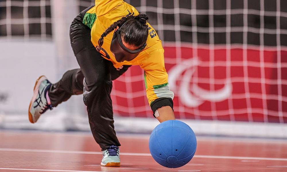Jéssica Victorino seleção brasileira de goalball feminino Jogos Paralímpicos Tóquio 2020 arremesso frente
