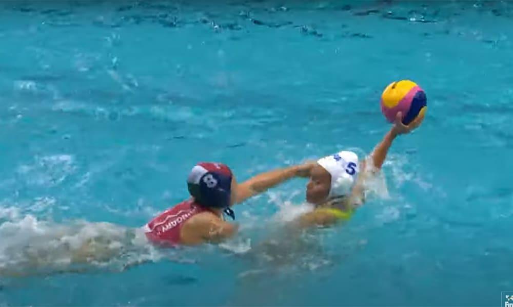 Brasil Hungria Mundial Júnior de polo aquático feminino
