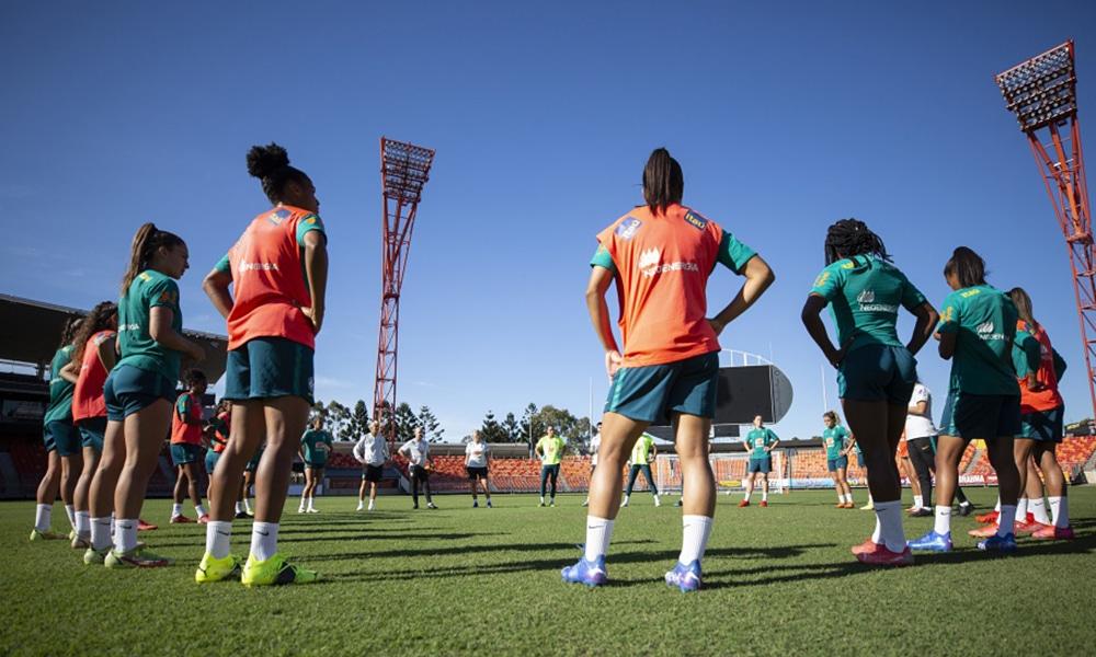 Seleção feminina futebol treino austrália amistoso
